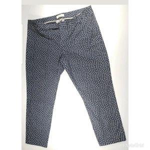 Gap Slim Cropped Pants Navy Blue Dot sz 16